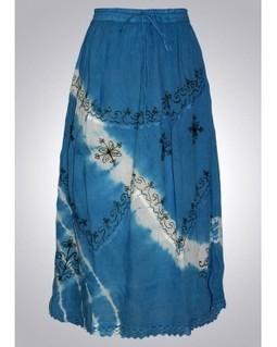 Blue Tie Dye Cotton Skirt | EdayGarments- Buy Dresses, skirts, tops, Tunics | Scoop.it