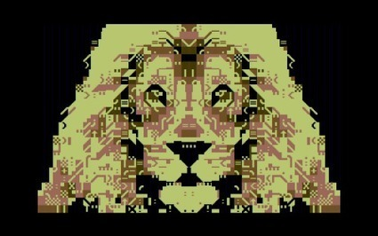 PETSCII-lion by Cal Skuthorpe. His second PETSCII-work ever. | ASCII Art | Scoop.it