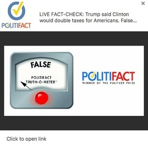 Lessons from our first experiment with pop-up fact-checking | RJI links | Scoop.it