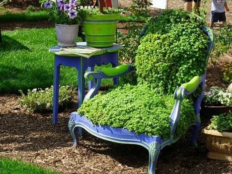 The green armchair | Let's Upcycle! | Scoop.it