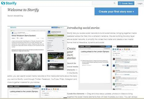 Storify - Create stories using social media   30 Sites in 60 Minutes   Scoop.it
