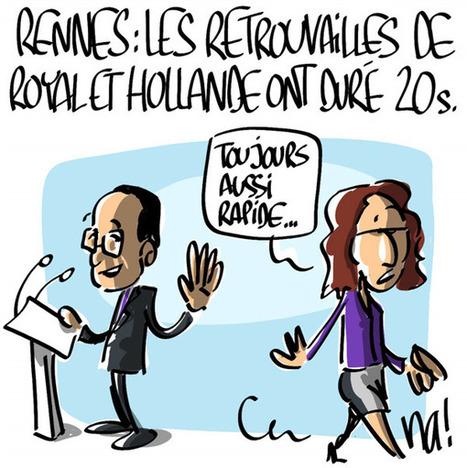 Meeting PS de Rennes, les retrouvailles de Ségolène Royal et François Hollande ont duré 20 secondes | CRAKKS | Scoop.it