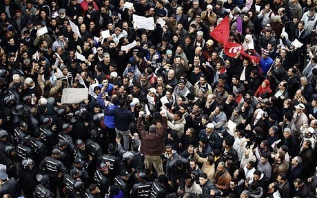 Islamist movement at forefront of Tunisia's protests  - Telegraph | Coveting Freedom | Scoop.it