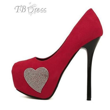 Charming Red Rhinestones Heart Women's High Heel Prom Shoes | beauty girl | Scoop.it
