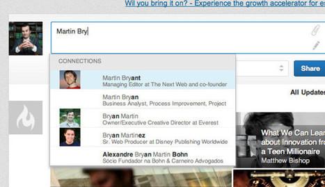 LinkedIn prueba un nuevo sistema de menciones, al estilo de Facebook   Recursos Humanos Online   Scoop.it