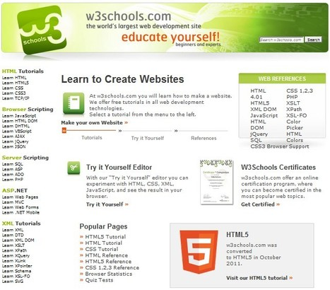 W3Schools Online Web Tutorials | iEduc | Scoop.it
