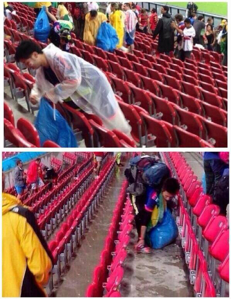 日本輸球後,球迷做出只有日本球迷會做的事 | Thought-provoking stories | Scoop.it