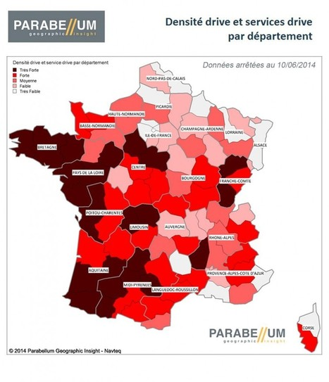 Parc Drive : 3 049 #drive en France en juin. Source #Parabellum Geographic insight | notre métier le commerce ! | Scoop.it