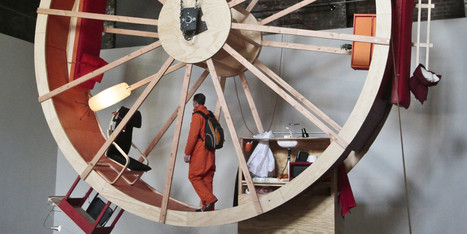 Two People Are Living In A Giant Hamster Wheel, All In The Name Of Art | Strange days indeed... | Scoop.it