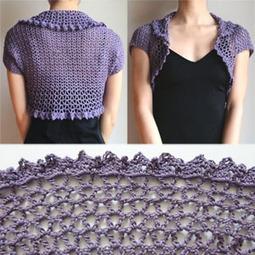 Crochet Spot » Blog Archive » Crochet Pattern: V Lace Shrug ...   PKC Crochet   Scoop.it