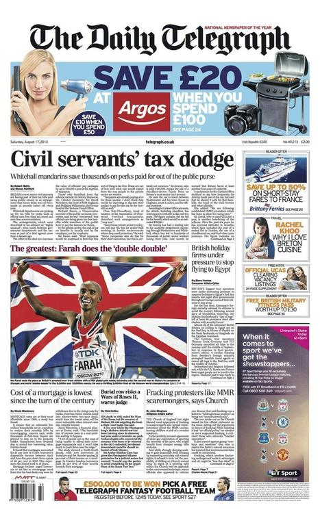 Twitter / Telegraph: Tomorrow's Daily Telegraph ... | Technology | Scoop.it