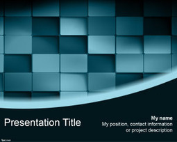 Free 3D Blue Blocks PowerPoint Template | Free Powerpoint Templates | uses of 4 macro skills of communication in civil engineering | Scoop.it