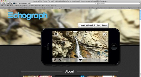 Echograph for iPhone, iPod touch and iPad   Add splashes of video into still photos to make animated GIF photography   Uppdrag : Skolbibliotek   Scoop.it