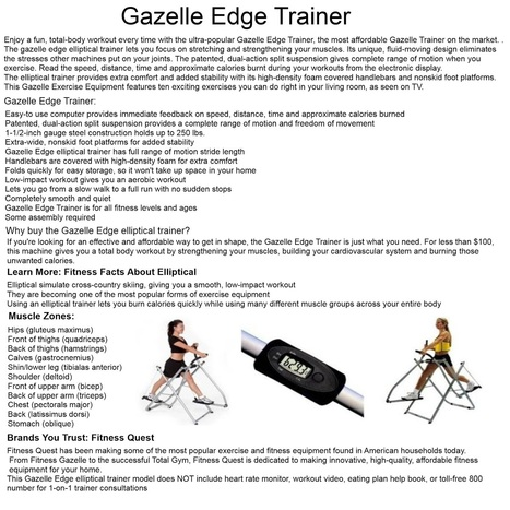 fitness gazelle - Best Machine ~ Zin Health Health And Weight Loss | fitness wolf | Scoop.it