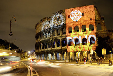Colosseum illuminated by End Polio Now @Rotary | End Polio Now | Scoop.it