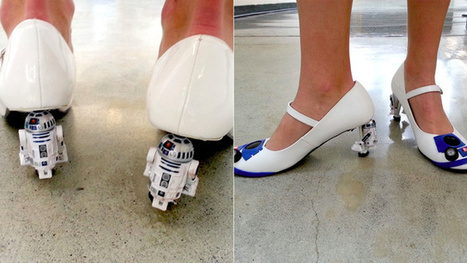 R2D2 heels probably don't spit out a tiny holographic Carrie Fisher, but they still rule | Cosplay News | Scoop.it