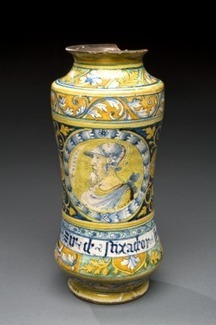 Albarello drug jar for Syrup of French Lavender, Faenza, Italy, 1531-1570 | bain de Marie: Women and the roots of botanical chemistry | Scoop.it