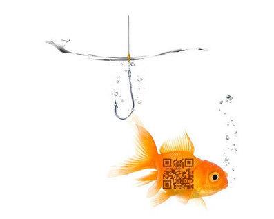 QR Code Hello Fish - Original QR Interactive Art Piece - QR Code Art | Social Shopping | Scoop.it