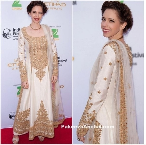 Kalki Koelchin in Long Straight Suit by Rimple and Harpreet Narula | Indian Fashion Updates | Scoop.it