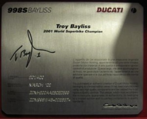 Some People Have a Motorbike Named After Them: Ducati 998 Bayliss in Germany | Rare SportBikes For Sale | Ductalk | Scoop.it