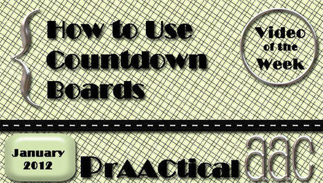 How to Use a Countdown Board | Autism | Scoop.it