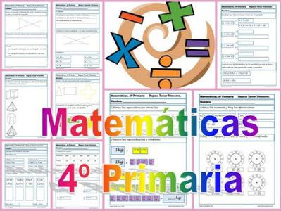 Fichas de Matemáticas Cuarto Primaria – Educapeques « Educacion ...
