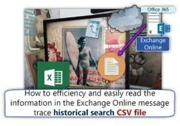 How to efficiency and easily read the information in the Exchange Online message trace historical search CSV file | o365info.com | Scoop.it