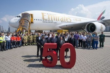 Emirates takes delivery of its 50th Airbus A380 | AVIATIONNEWS.EU. | Airbus A380 | Scoop.it