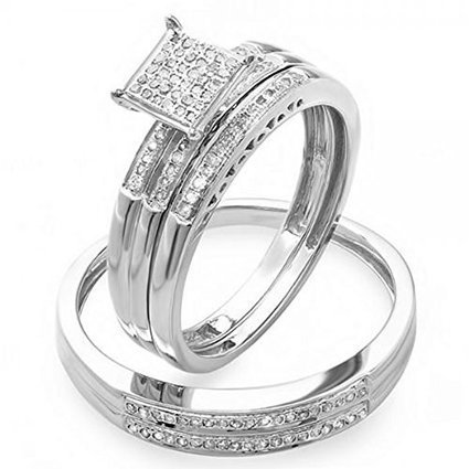 0.30 Carat (ctw) Sterling Silver Round White Diamond Men &... | Jewelry Mall | Scoop.it