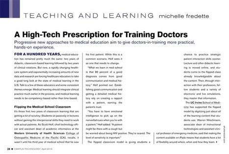 A High-Tech Prescription for Training Doctors  Campus Technology | 21st Century Medical English Teaching and Technology Resources | Scoop.it