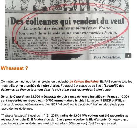 La moitié des éoliennes en France ne sont pas raccordées au réseau et tournent dans le vide... | Solution Energie | Scoop.it