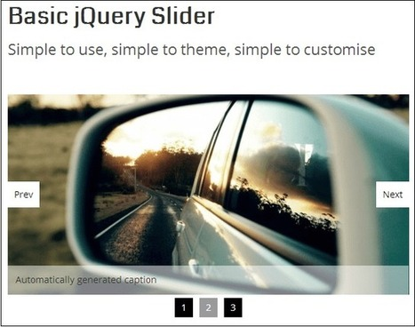 6+ Lightweight jQuery Slider Plugins | jQuery By Example | jQuery By Example | Scoop.it