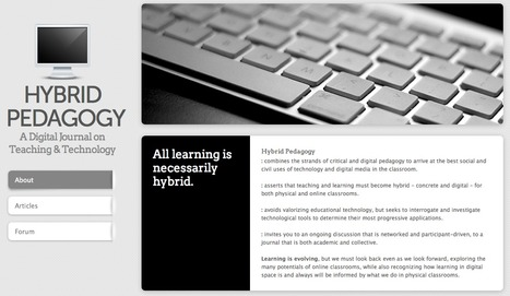 Hybrid Pedagogy - A Digital Journal on Teaching & Technology | Educación y TIC | Scoop.it
