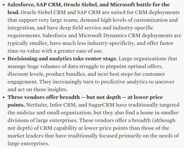 The Forrester Wave: CRM Suites For Large Organizations, Q1 2015 | The Marketing Technology Alert | Scoop.it