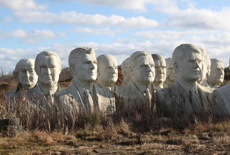How 43 Giant, Crumbling Presidential Heads Ended Up in a Virginia Field | Ken's Odds & Ends | Scoop.it