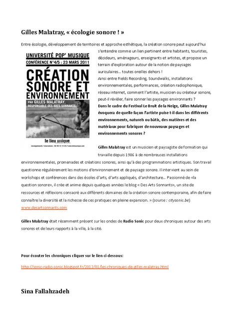 Écologie sonore ! | DESARTSONNANTS - CRÉATION SONORE ET ENVIRONNEMENT - ENVIRONMENTAL SOUND ART - PAYSAGES ET ECOLOGIE SONORE | Scoop.it