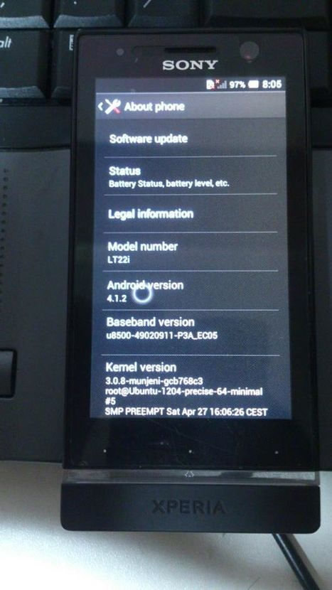 Install Android 4.1.2 Jelly Bean in Xperia U ST25i - 3.0.8 Kernel. | adrian | Scoop.it