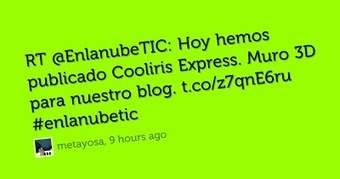 En la nube TIC: Visible Tweets como visor de tweets | Herramientas digitales | Scoop.it