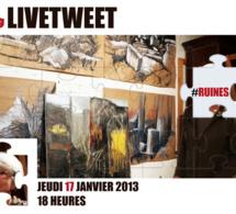 Découverte et livetweet de l'exposition Annie Favier. La poétique des ruines   Social media for Museums   Scoop.it