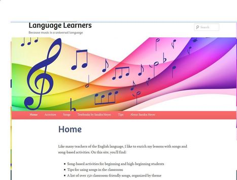 Songs and Activities for English Language Learners | FOTOTECA LEARNENGLISH | Scoop.it