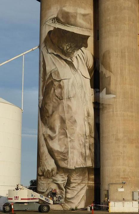 Australia: Painting Brim's grain silo's solo a tall order for Guido van Helten | Grain Elevators | Scoop.it