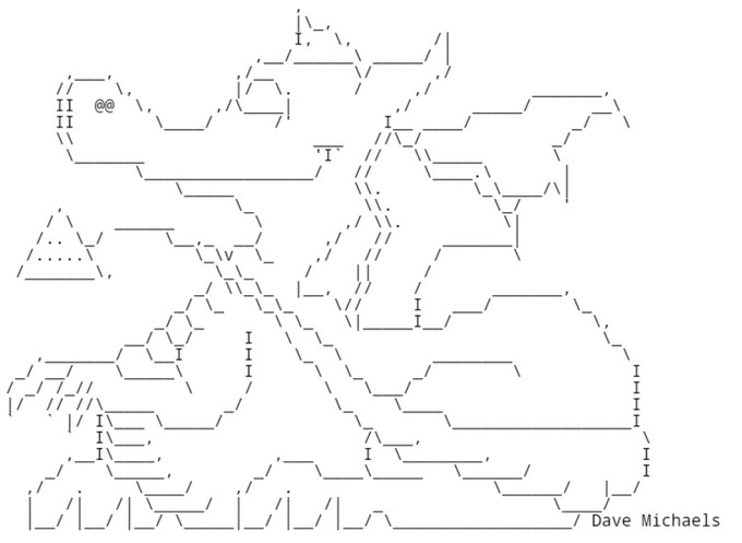 ASCII Art - Chris.com - ASCII ART - Dragon - Dragons