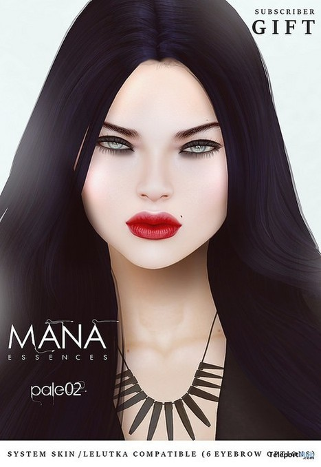 Mana Pale 02 Tone System Skin & Lelutka Applier Subscriber Gift by Essences | Teleport Hub - Second Life Freebies | Second Life Freebies | Scoop.it