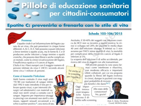 Epatite C: prevenirla o frenarla con lo stile di vita - Fondazione Allineare Sanità e Salute  | Health promotion. Social marketing | Scoop.it