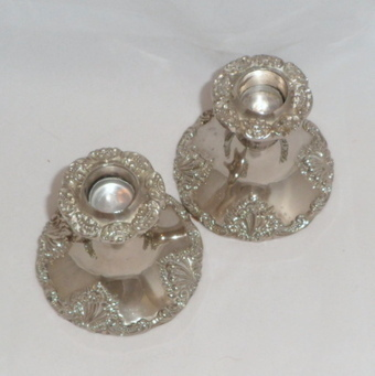 Vintage Godinger Candle Holders Silver Plated Ornate $35.00 | Vintage Passion | Scoop.it