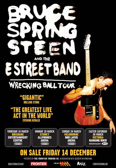 Bruce Springsteen a lancé sa tournée 2013 à Brisbane (Australie) - le blog Bruce Springsteen | Bruce Springsteen | Scoop.it