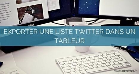 Comment extraire les membres d'une liste Twitter dans un tableur ? | Stories ressources numériques | Scoop.it