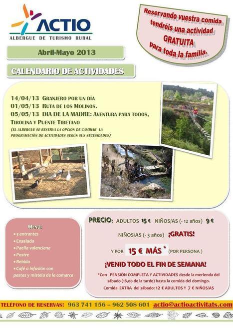 Actividad gratuita reservando la comida - Abril - Mayo 2013 - Actio Activitats | Turismo de Naturaleza, en familia | Scoop.it