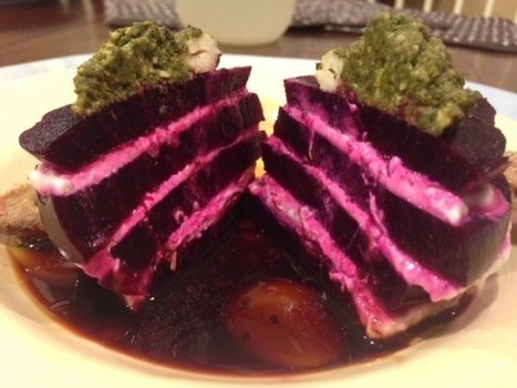 """16 Reasons Beets CAN'T Be Beat….& Ellen's Easy Stacked Beets with Herbed """"Cheese"""" 