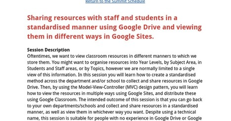 Sharing resources with staff and students in a standardised manner using Google Drive and viewing them in different ways in Google Sites. | 21st Century School Libraries | Scoop.it